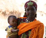 Woman with child in Africa