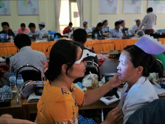 The training of Primary Eye Care trainers in Shan State. Photo credit: The Fred Hollows Foundation