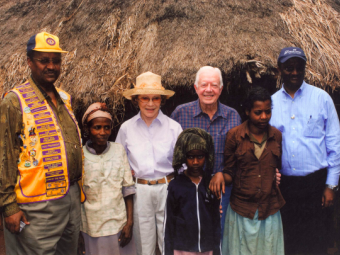 Dr Tebebe with President Jimmy Carter