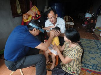 Trachoma screening in the Lao People's Democratic Republic. Photo courtesy of USAID.